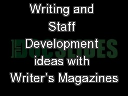 Halloween Writing and Staff Development ideas with Writer's Magazines