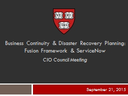 Business Continuity & Disaster Recovery Planning: