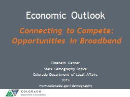 Connecting to Compete: Opportunities in Broadband