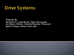 Drive Systems Presented By: