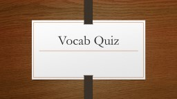 Vocab Quiz Ecological Niche