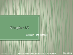Chapter 12 Sexuality and Gender