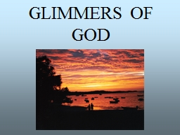 GLIMMERS OF GOD Arthur  Stace