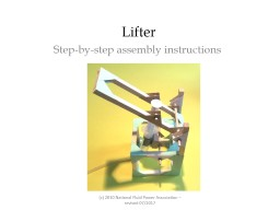 Lifter  Step-by-step assembly instructions