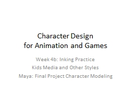 Character Design  for Animation and Games