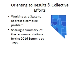 Orienting to Results & Collective Efforts