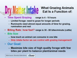 What Grazing Animals Eat Is a Function of: