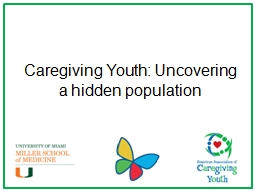 Caregiving Youth: Uncovering a hidden population