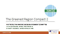 The Greenest Region Compact 2
