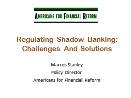Regulating Shadow Banking: