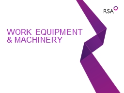 Work Equipment & Machinery