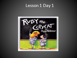Lesson 1 Day 1  Question of the Day