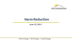 Harm Reduction June 13,