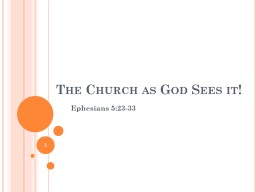The Church as God Sees it