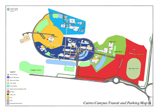 Cairns Campus Transit and Parking Map Legend Bicycle P
