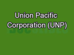 Union Pacific Corporation (UNP)