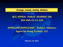 BCC APPEAL PUBLIC HEARING ON