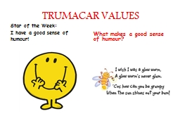 TRUMACAR VALUES Star of the Week: