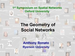 The Geometry of  Social Networks PowerPoint PPT Presentation