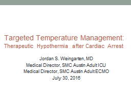 Targeted Temperature Management: PowerPoint PPT Presentation