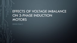 Effects of voltage imbalance on 3-phase induction motors