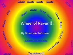 Wheel of Raven!!! By. Shannon Johnson