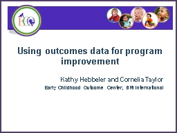 Using outcomes data for program improvement