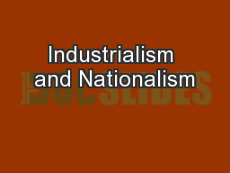 Industrialism and Nationalism