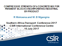 COMPRESSIVE  STRENGTH OF A CONCRETE MIX FOR PAVEMENT BLOCKS INCORPORATING INDUSTRIAL