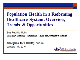 Population  Health  in a