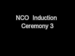 NCO  Induction Ceremony 3