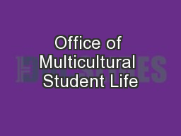 Office of Multicultural Student Life