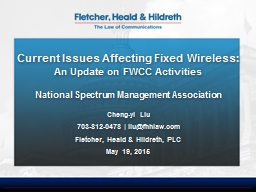 Current Issues Affecting Fixed Wireless: