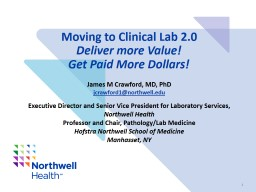 Moving to Clinical Lab 2.0