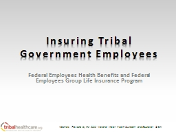 Insuring Tribal Government Employees