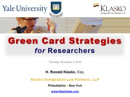 Green Card Strategies  for
