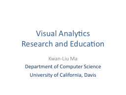 Visual Analytics  Research and Education PowerPoint PPT Presentation