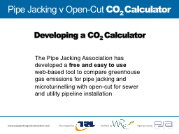 Pipe Jacking v Open-Cut