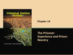 Chapter 14 The Prisoner Experience and