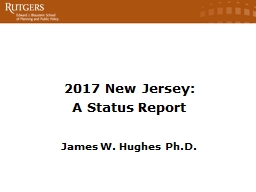 2017 New Jersey: A Status Report