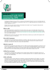 unwanted calls NOT covered by TPS Dealing with The Tel