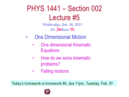 PHYS  1441  – Section