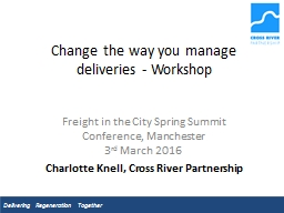 Change the way you manage deliveries - Workshop