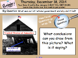 Articles of Confederation PowerPoint PPT Presentation