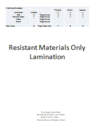 Resistant Materials Only Lamination