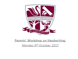 Parents' Workshop  on PowerPoint PPT Presentation