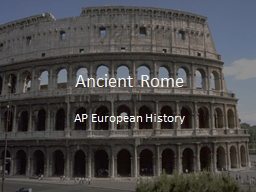 Ancient Rome AP European History