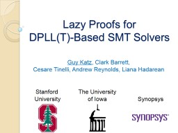 Lazy Proofs for  DPLL(T)-Based SMT Solvers