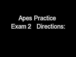 Apes Practice Exam 2   Directions: PowerPoint PPT Presentation