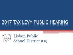 2017 TAX LEVY PUBLIC HEARING PowerPoint PPT Presentation